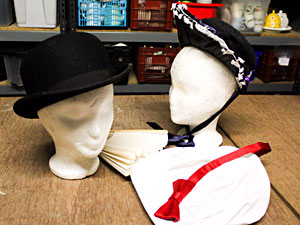 Hats and wigs for hire